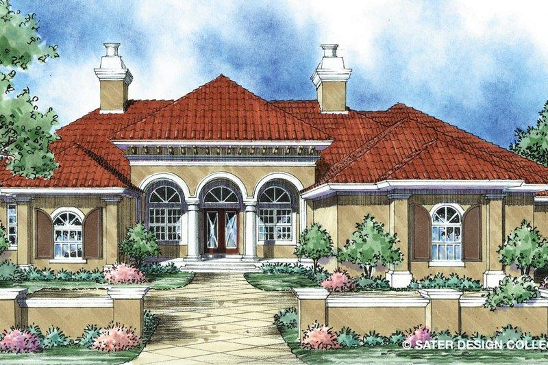House Plan Design - Mediterranean Exterior - Front Elevation Plan #930-300