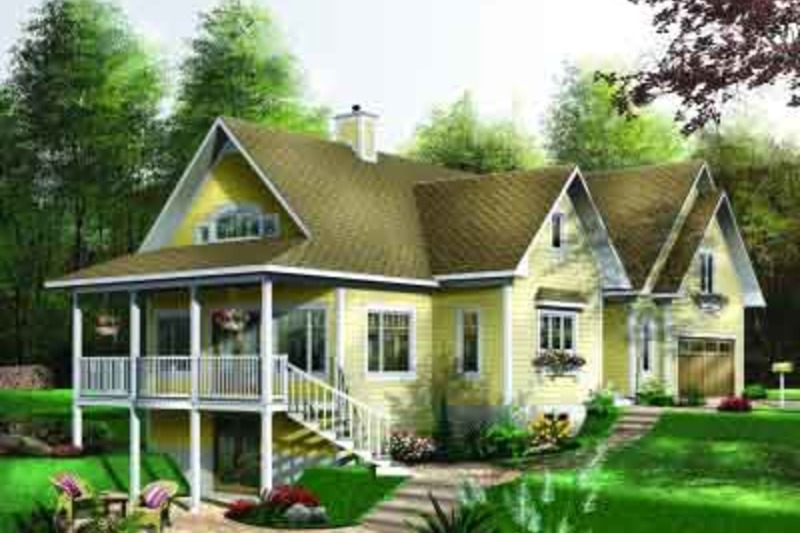 Southern Exterior - Front Elevation Plan #23-578