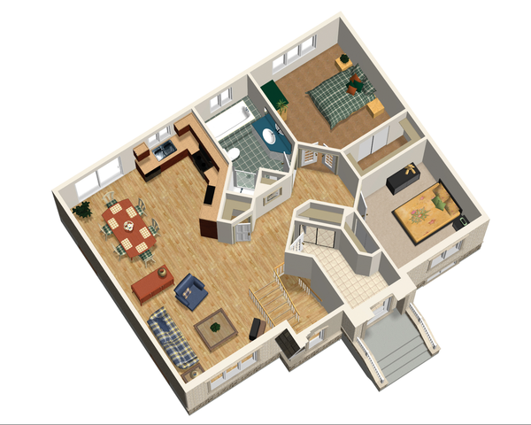 Traditional Floor Plan - Main Floor Plan Plan #25-4826