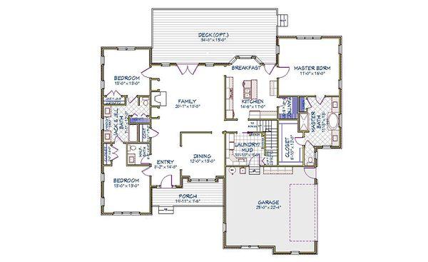 Traditional Floor Plan - Main Floor Plan Plan #898-14