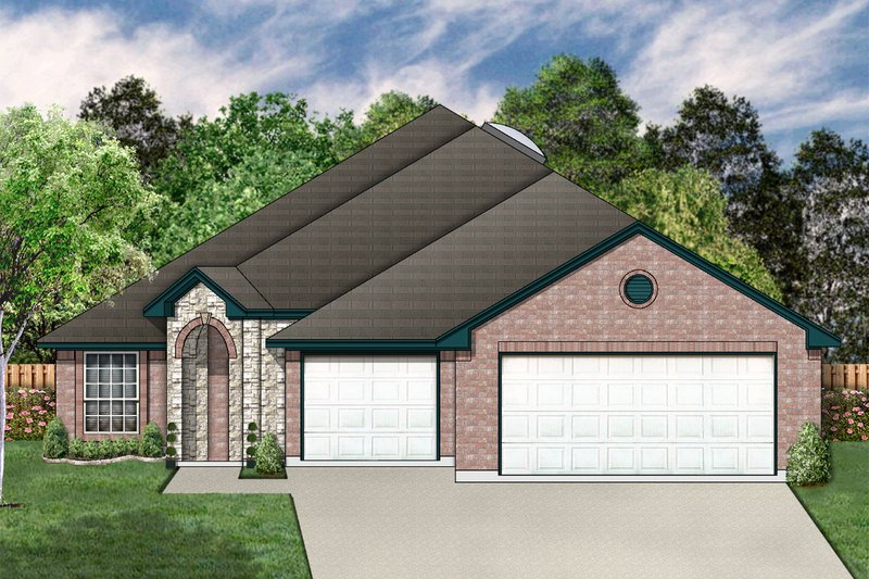 Traditional Exterior - Front Elevation Plan #84-368 - Houseplans.com