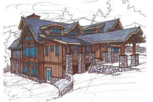 Craftsman Exterior - Front Elevation Plan #921-3