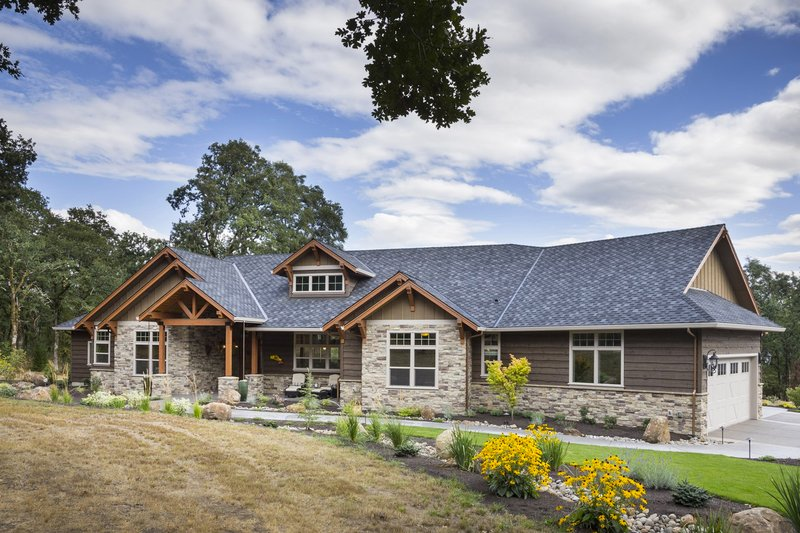 Dream House Plan - Ranch Exterior - Front Elevation Plan #48-712