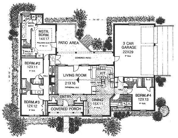 Traditional Floor Plan - Main Floor Plan #310-615