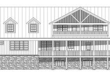 Country Exterior - Rear Elevation Plan #932-207