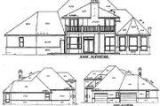 European Style House Plan - 3 Beds 3 Baths 3016 Sq/Ft Plan #52-149 Exterior - Rear Elevation