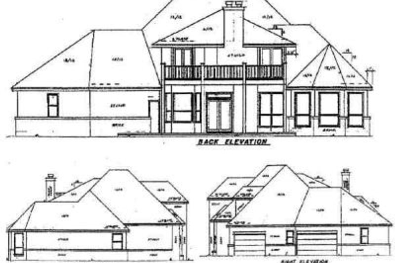 European Exterior - Rear Elevation Plan #52-149 - Houseplans.com
