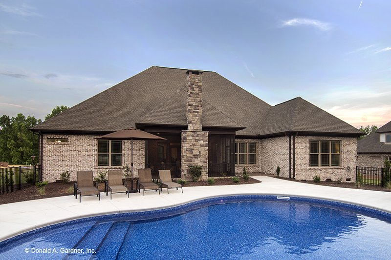 Country Exterior - Rear Elevation Plan #929-556 - Houseplans.com