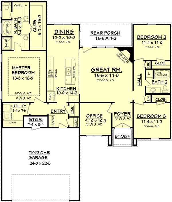 Traditional Floor Plan - Main Floor Plan Plan #430-70