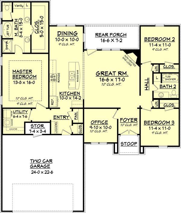 Architectural House Design - Traditional Floor Plan - Main Floor Plan #430-70