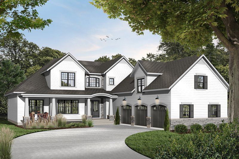 House Plan Design - Farmhouse Exterior - Front Elevation Plan #23-2693
