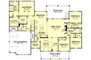 Farmhouse Style House Plan - 4 Beds 3.5 Baths 2742 Sq/Ft Plan #430-165 Floor Plan - Main Floor