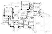 European Style House Plan - 4 Beds 4 Baths 4050 Sq/Ft Plan #80-160 Floor Plan - Main Floor