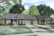 Traditional Style House Plan - 2 Beds 1 Baths 852 Sq/Ft Plan #17-2405 Exterior - Front Elevation