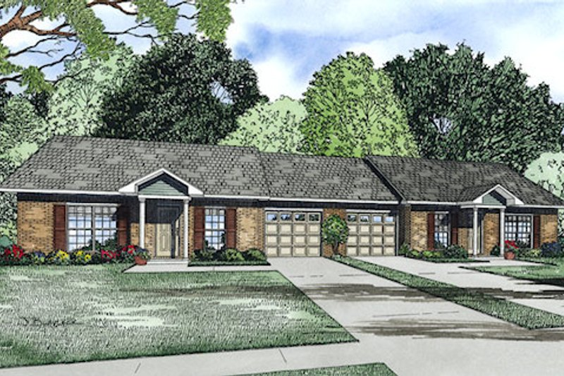 Traditional Exterior - Front Elevation Plan #17-2405 - Houseplans.com