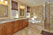 European Style House Plan - 4 Beds 3.5 Baths 2673 Sq/Ft Plan #929-21 Interior - Master Bathroom