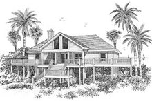 Beach Exterior - Front Elevation Plan #37-139