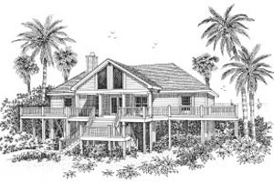 Dream House Plan - Beach Exterior - Front Elevation Plan #37-139