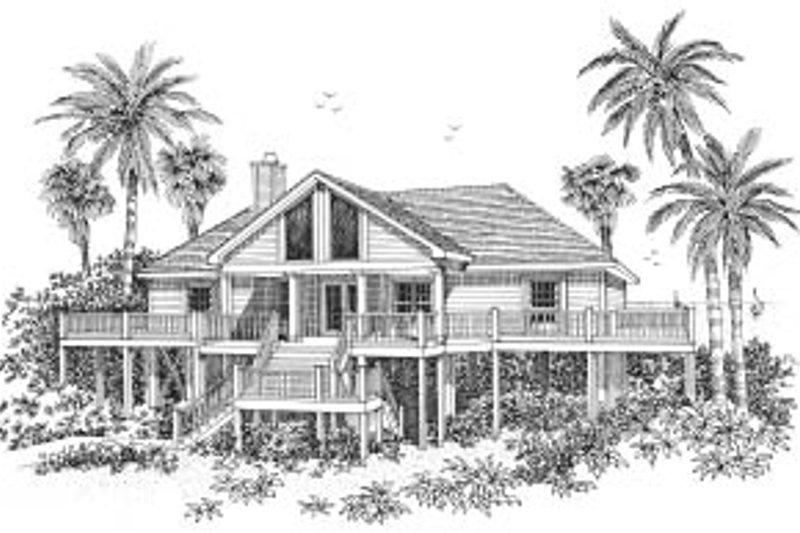 Home Plan - Beach Exterior - Front Elevation Plan #37-139