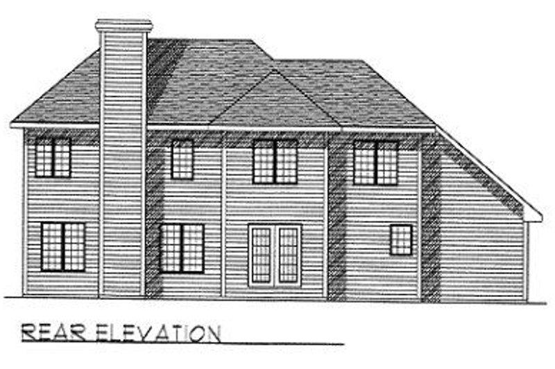 Traditional Exterior - Rear Elevation Plan #70-392 - Houseplans.com