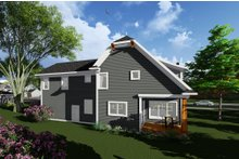 Dream House Plan - Craftsman Exterior - Rear Elevation Plan #70-1276