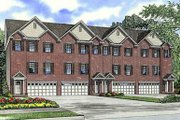 Traditional Style House Plan - 3 Beds 2.5 Baths 7504 Sq/Ft Plan #17-1174 Exterior - Front Elevation