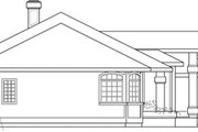 Modern Style House Plan - 3 Beds 2.5 Baths 2396 Sq/Ft Plan #124-150 Exterior - Other Elevation