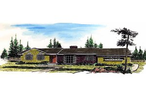 Dream House Plan - Ranch Exterior - Front Elevation Plan #315-110