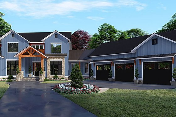 Craftsman Exterior - Front Elevation Plan #17-3423