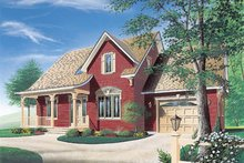Home Plan - Country Exterior - Front Elevation Plan #23-253