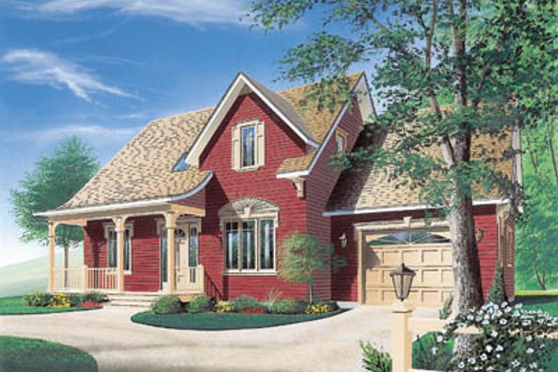 Country Exterior - Front Elevation Plan #23-253 - Houseplans.com