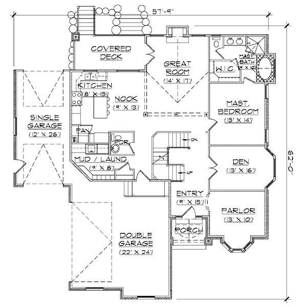 House Plan Design - European Floor Plan - Main Floor Plan #5-391