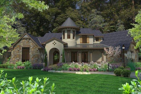 Home Plan - European Exterior - Front Elevation Plan #120-185