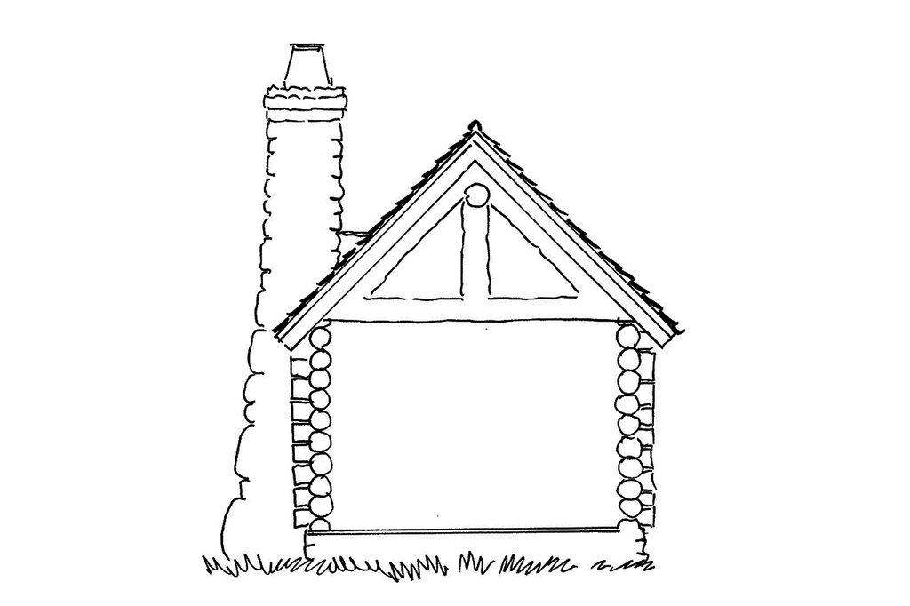 log style house plan  ft plan  942