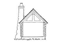 Log Exterior - Rear Elevation Plan #942-44