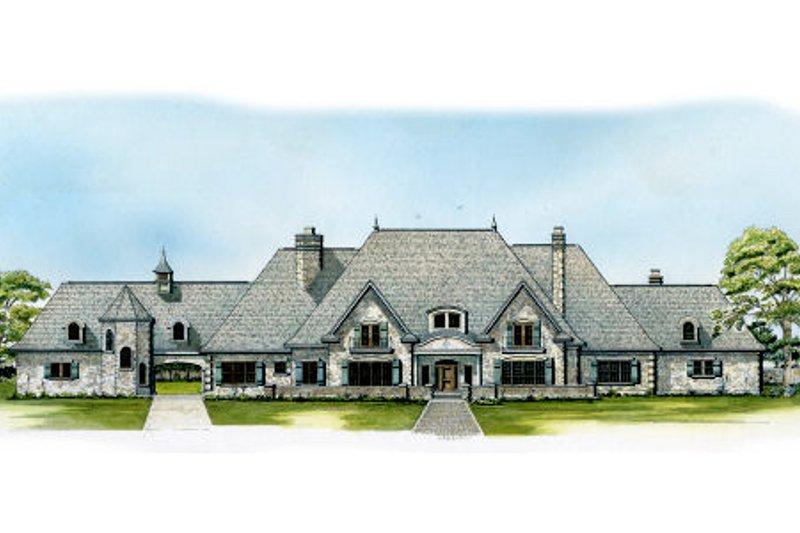 European Style House Plan - 5 Beds 6 Baths 8606 Sq/Ft Plan #140-156