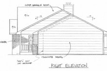 House Plan Design - Ranch Exterior - Other Elevation Plan #58-135