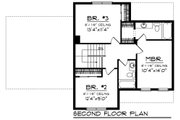 Craftsman Style House Plan - 3 Beds 2.5 Baths 1413 Sq/Ft Plan #70-1411 Floor Plan - Upper Floor Plan