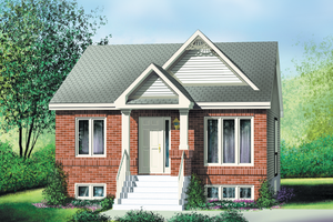 Cottage Exterior - Front Elevation Plan #25-119
