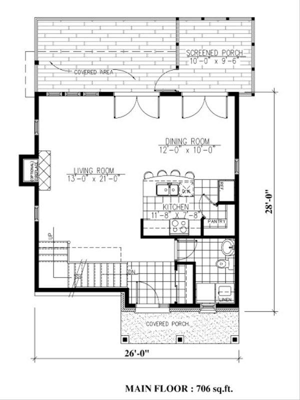 Farmhouse Floor Plan - Main Floor Plan Plan #138-343