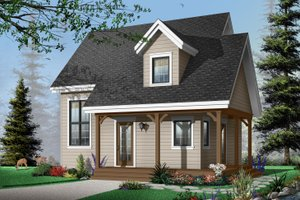 Cottage Exterior - Front Elevation Plan #23-661
