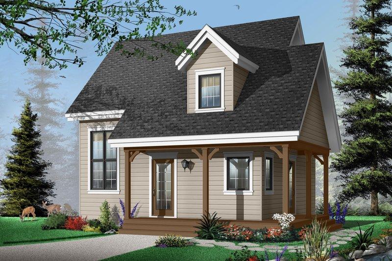 Home Plan - Cottage Exterior - Front Elevation Plan #23-661