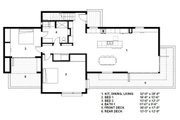 Modern Style House Plan - 3 Beds 2 Baths 2298 Sq/Ft Plan #497-54 Floor Plan - Main Floor Plan