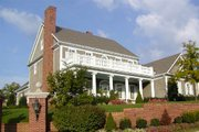 Southern Style House Plan - 4 Beds 4 Baths 3180 Sq/Ft Plan #137-174 Exterior - Front Elevation