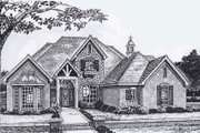 Colonial Style House Plan - 4 Beds 3.5 Baths 3032 Sq/Ft Plan #310-913 Exterior - Front Elevation