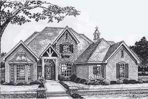 Colonial Exterior - Front Elevation Plan #310-913