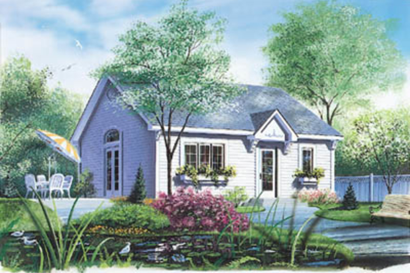 Cottage Exterior - Front Elevation Plan #23-113