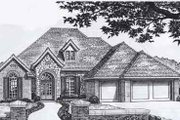 Traditional Style House Plan - 3 Beds 2.5 Baths 2214 Sq/Ft Plan #310-934 Exterior - Front Elevation