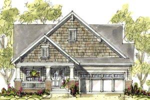 Cottage Exterior - Front Elevation Plan #20-1206