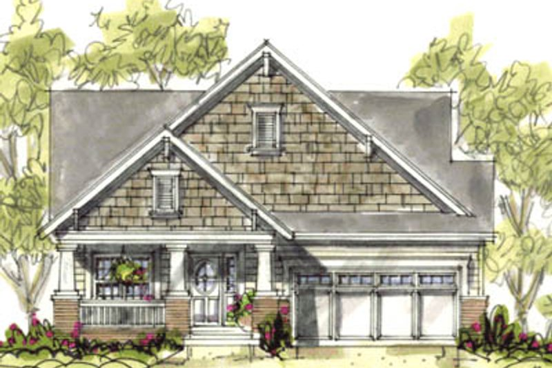 Cottage Style House Plan - 2 Beds 2 Baths 1344 Sq/Ft Plan #20-1206